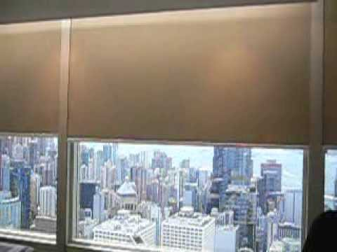 Blackout Motorized Roller Blinds With Side Track At Cheung