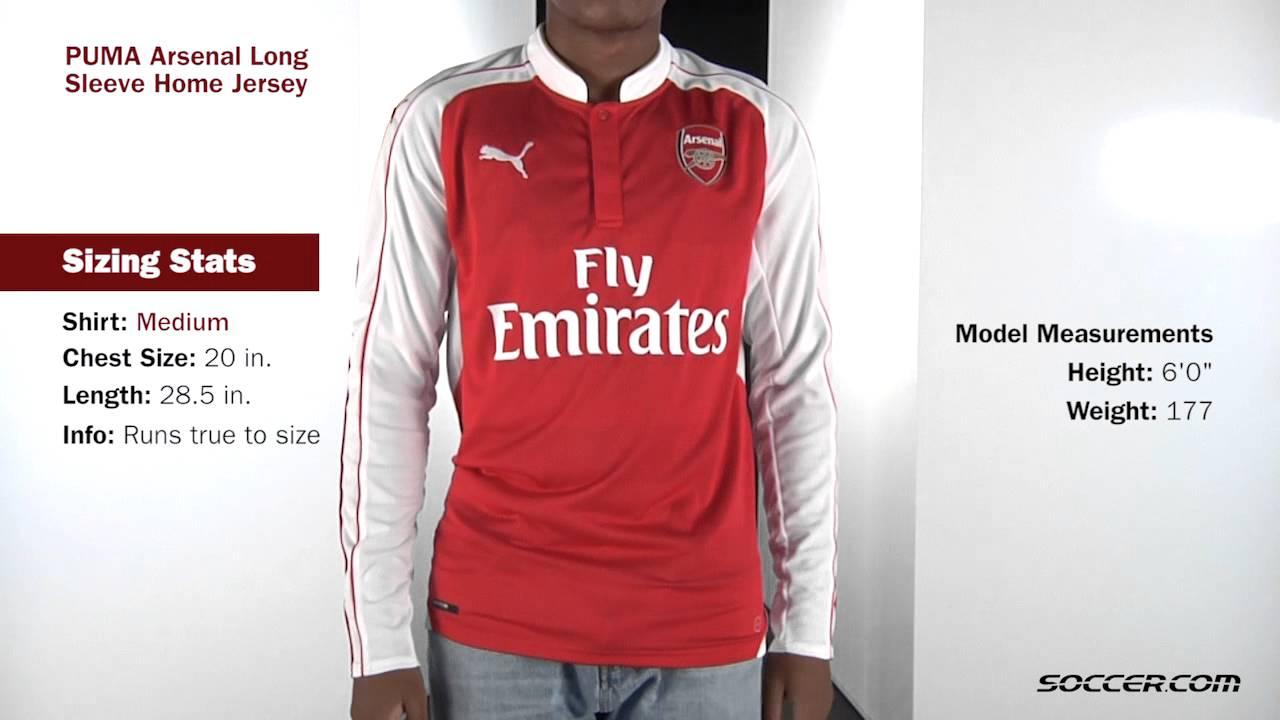on sale 1d637 ed070 PUMA Arsenal Long Sleeve Home Jersey 15 16 1