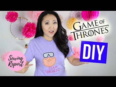 Tormund Giantsbane T-Shirt 👕 Game of Thrones DIY Embroidery Project | SEWING REPORT