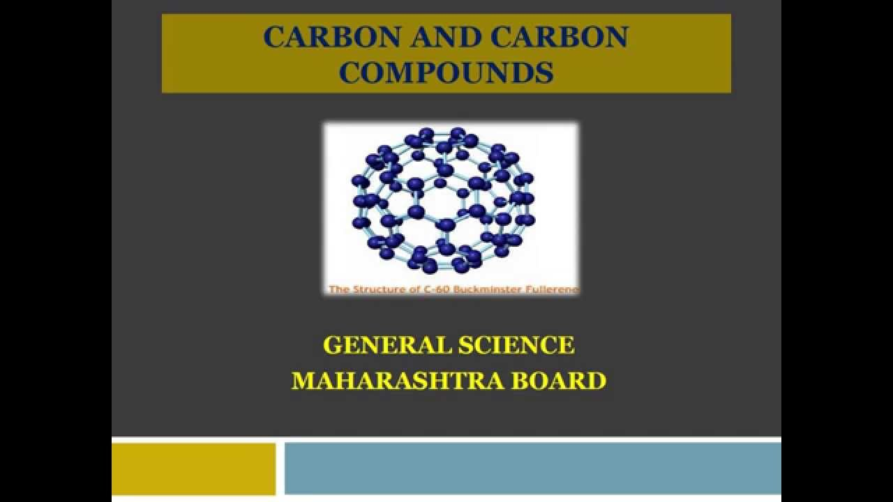 Class 8 Maharashtra State General Science Carbon And Carbon