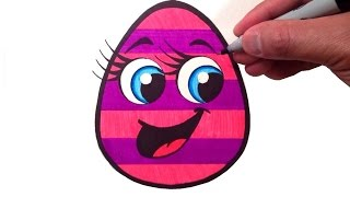 How to Draw a Cute Easter Egg