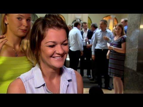 2014 Apia International Sydney Players Party | Aga Radwanska & Caro Wozniacki