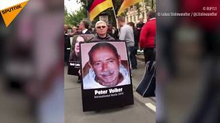 Germany: Portraits of Alleged Migrant Attacks' Victims Displayed at Chemnitz Protests