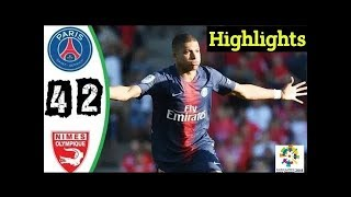 PSG vs Nimes 4-2 Highlights Match
