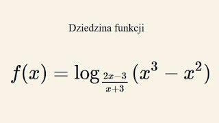 Poziom rozszerzony - zadanie 2 - wyznacz dziedzinę funkcji