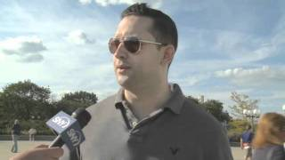 Chris Botta at Islanders rally for new arena