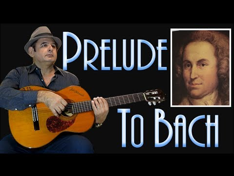 Baroque  Fingerstyle Guitar  Instrumental Guitar Prelude in honor of Bach of Júlio Hatchwell