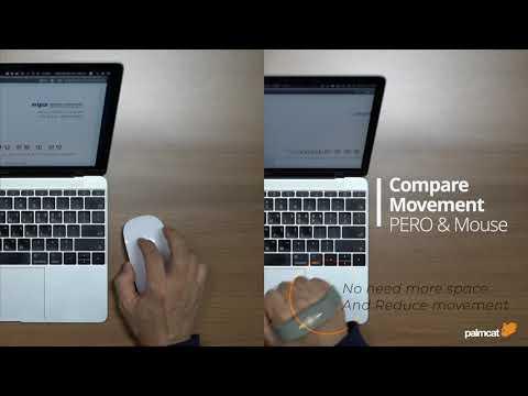 마우스 와 패로의 사용 모습 비교