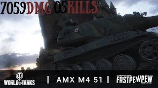 AMX M4 51: ACE 7059 DMG│Cinematic Replay