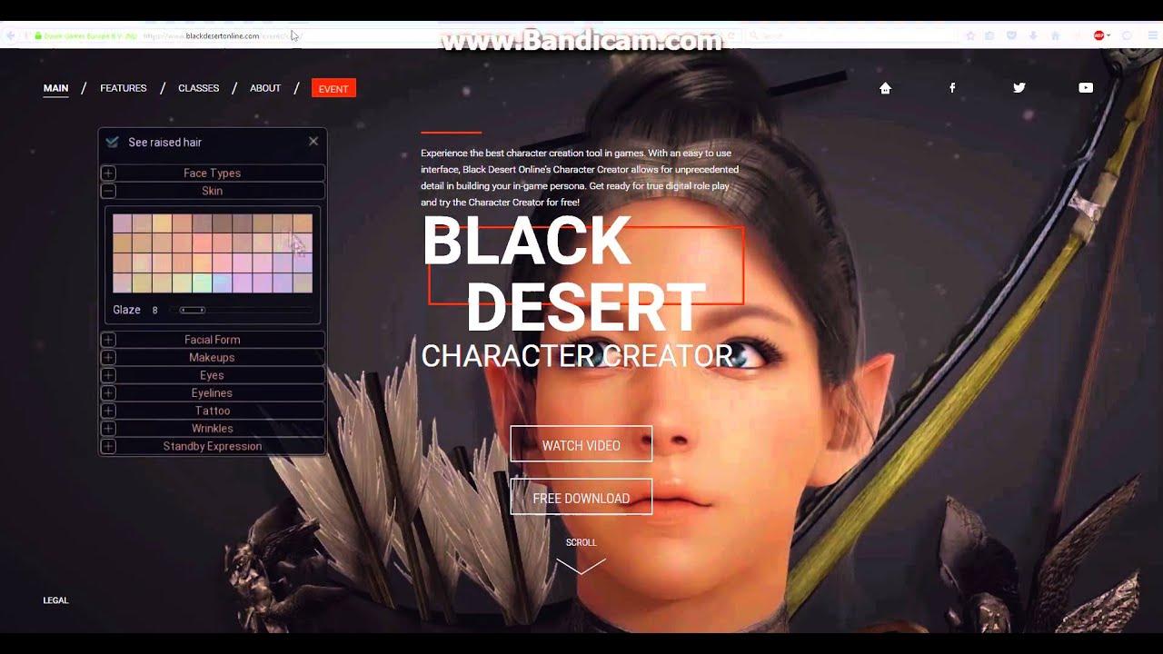 Black Desert Character Design Download : How to download black desert online character creator