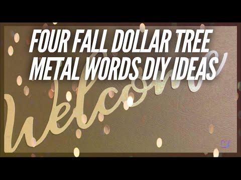 Four Fall Dollar Tree Metal Words DIY Ideas