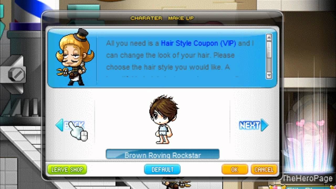 Hair Style Voucher Maplestory 2: MapleStory Global All Male Hairstyles