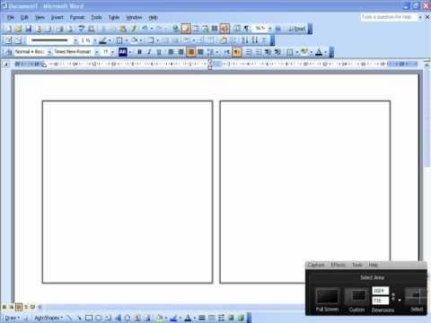 للكتابة بعرض الورقة ورقة مطوية فى برنامج Word Youtube