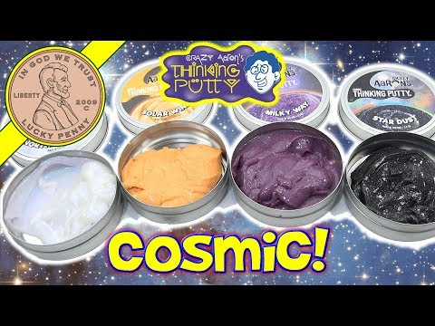 NEW Crazy Aaron's Cosmic Thinking Putty! Milky Way - Northern Lights - Solar Wind & Star Dust