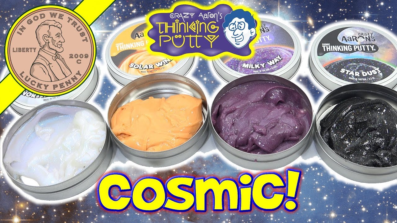 New Crazy Aaron S Cosmic Thinking Putty Milky Way Northern Lights Solar Wind Star Dust