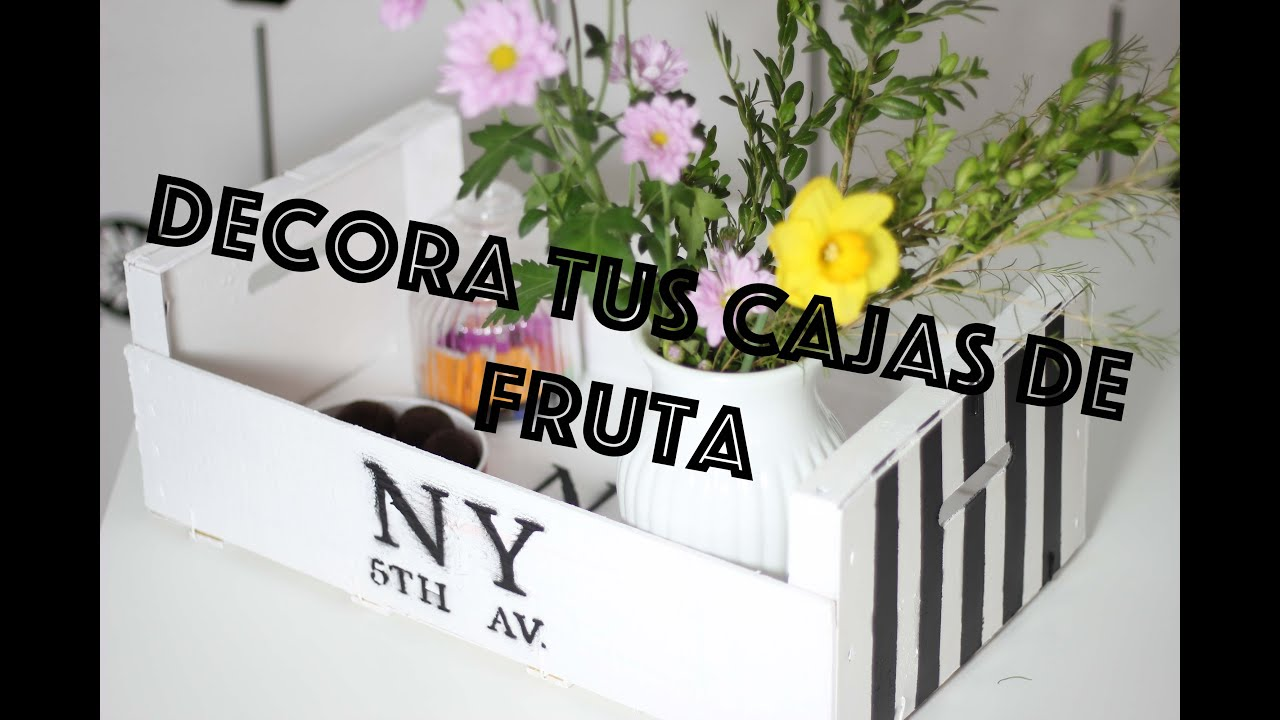 C mo decorar cajas de fruta de madera wood fruit box - Decorar caja de fruta ...