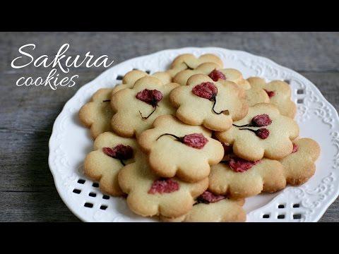 Sakura shortbread cookies recipe - cách làm bÁnh quy bƠ hoa anh ĐÀo