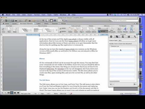 Create a Bibliography in Word 2011 for Mac