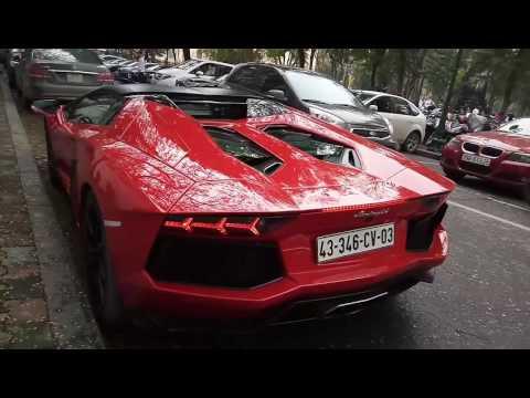 Đại gia Hà Nội nẹt pô siêu xe Lamborghini Aventador mũi trần chục tỷ | Johnny & SuperCar