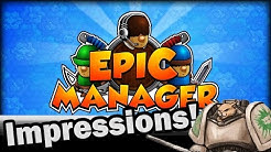 Epic Manager Gameplay Impressions - Weekly Indie Newcomer