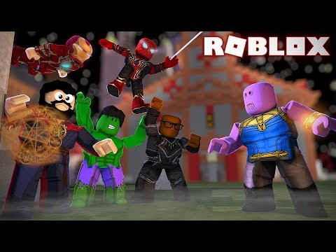 Defeating Thanos In Roblox Roblox Avengers Infinity War - kaelin on games roblox