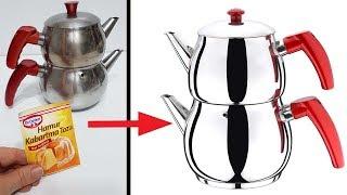 Bunu Biliyorsanız Arkadaşlarınız Sizi Çok Kıskanacak Kararan Çaydanlık Parlatma Yöntemi