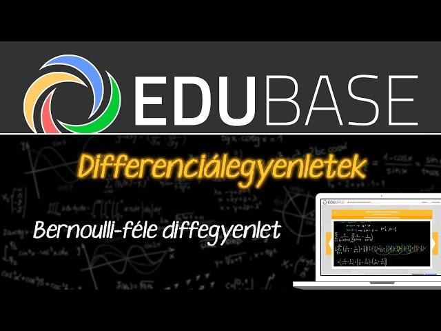 Bernoulli-féle differenciálegyenlet