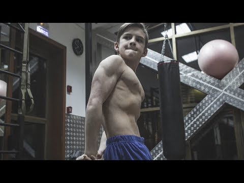 11 Years Old Bodybuilding Star - Awesome Muscle Boy Training In Gym