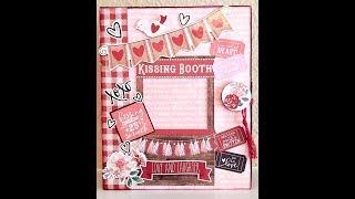 Kissing Booth Mini Album Tutorial Part 2 Decorating & Embellishing the Album