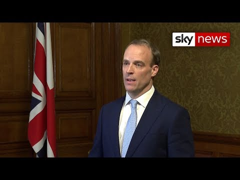 Raab: The Prime Minister has asked me to 'deputise where necessary'