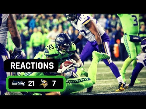 Seattle Seahawks Vs Minnesota Vikings 12/10/2018 MNF WEEK 14 LIVE REACTION