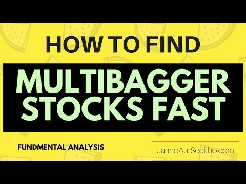 Multibagger Stocks  2017- How to find quickly and easily  using Fundamental Analysis