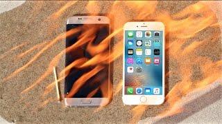 Apple iPhone 6S vs Galaxy S7 Edge BURN Test! Don