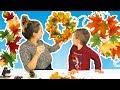 Toamna De Aur | Alex cu Mamica Face Compozitie de Toamna Pentru Gradinita