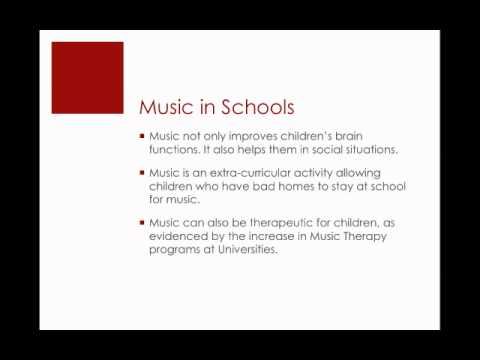 The Importance of Music Education mp4 - YouTube