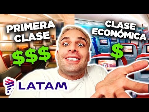 PRIMERA CLASE vs CLASE ECONOMICA (LATAM) | 24 HORAS EN UN AVIÓN!!