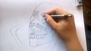 Drawing Ghost Rider