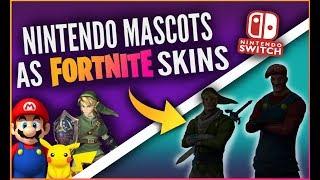 Nintendo Mascots As Fortnite Skins - Nintendo Switch exclusive skins Concept Art