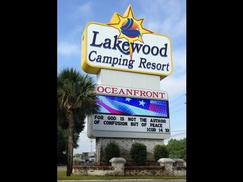 Touring the Lakewood Campground in Myrtle Beach SC - YouTube