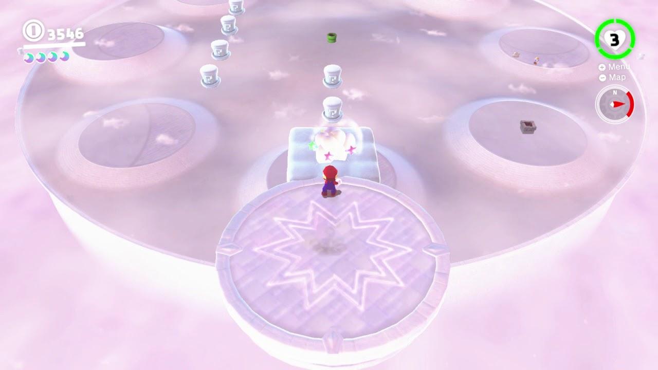 Super Mario Odyssey Cloud Kingdom Moon 4 High High