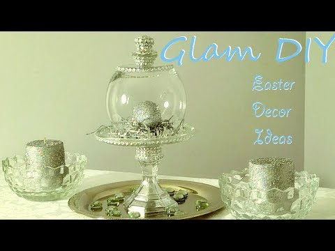 Dollar Tree DIY Glam Bling Cloche Easter Centerpiece Ideas