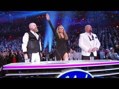 Här hyllas Alexander, Laila och Anders av Idolerna och Tommy Körberg