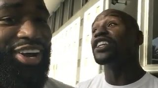 "Floyd Mayweather ""Reminds Adrien Broner That He Can Beat Him Up"""