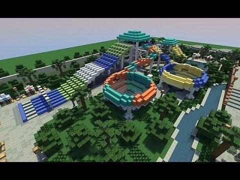 карта аквапарк для майнкрафт