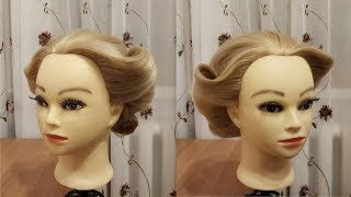 Easy and elegant hairstyle for party, wedding. Trendy  hairstyles tutorials