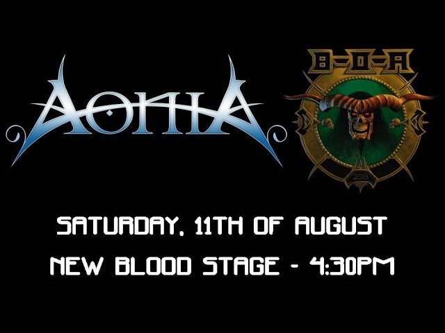 Aonia Bloodstock Promo - 4:30pm Saturday - New Blood Stage!