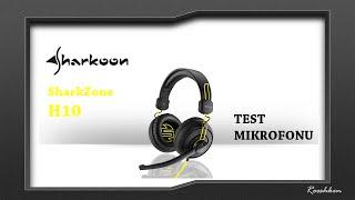 Najlepszy mikrofon w słuchawkach do 100 zł - Test mikrofonu Sharkoon SharkZone H10