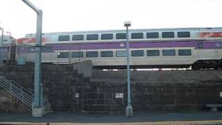 MBTA and Amtrak Readville Action with A Triple Meet. Second Time