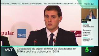 Pruebas de la 'incoherencia politica' de Sanchez y Rivera