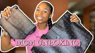 MY FIRST YOUTUBE VIDEO | MCM BAG UNBOXING